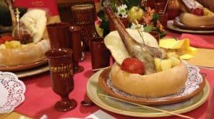 Banquete de una boda medieval