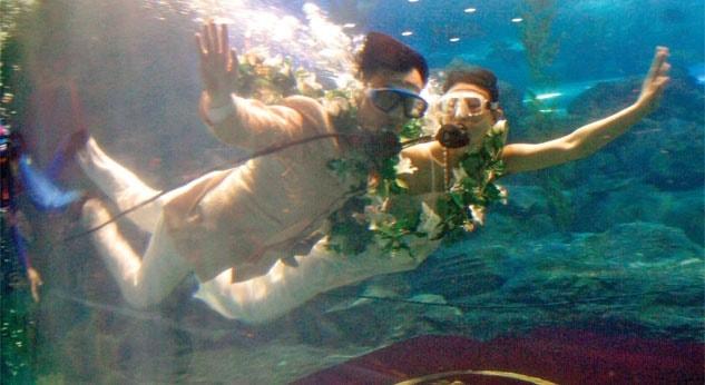 Boda bajo el agua en Bali