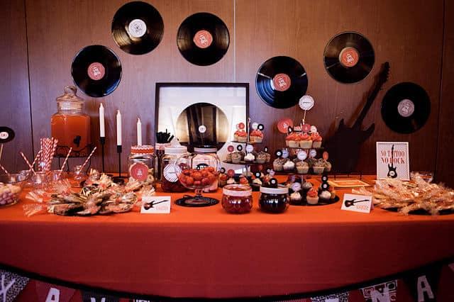 Bodegón musical para boda rockera