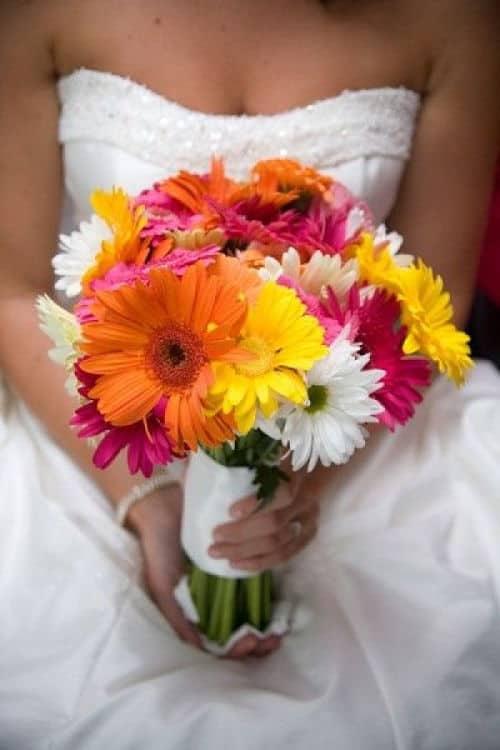 Bouquet de gerberas para novia