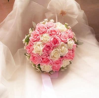 Bouquet novia con rosas