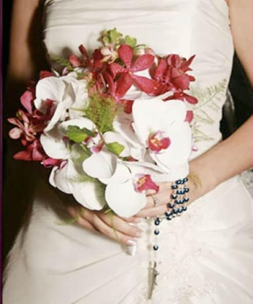 Bouquet con orquídeas