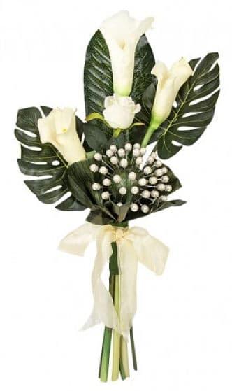 Bouquet de calas para novia