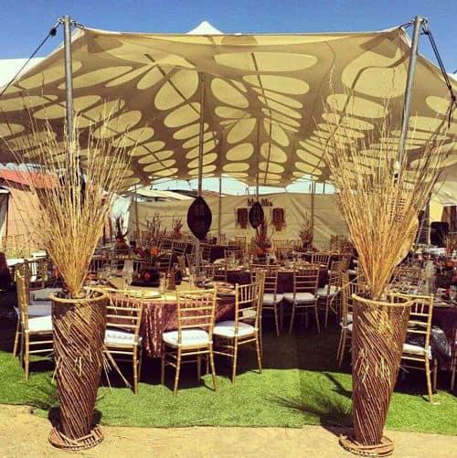 Banquete de boda africana
