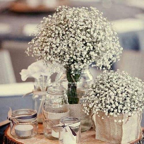 Mesa de boda con paniculata