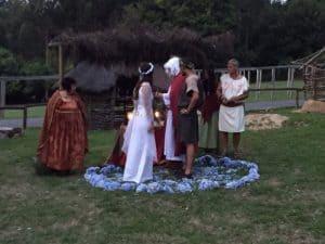 El altar en una boda celta