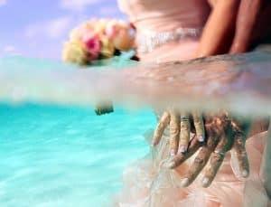 Una boda bajo el agua