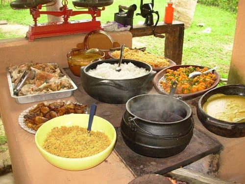 Comida típica de boda africana