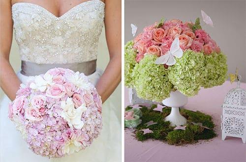 Hortensias en una boda