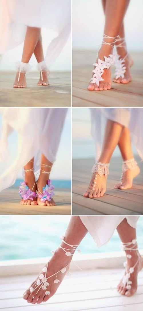 Joyas de pies para novias