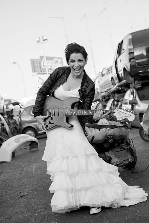 Fotos de una boda rockera