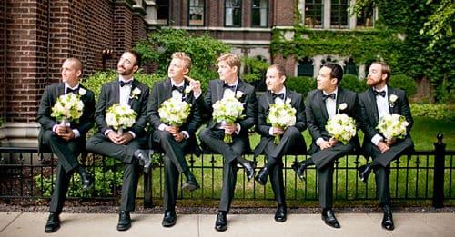 Los padrinos de una boda