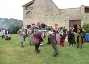 Lucha medieval de caballeros