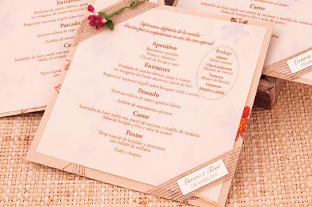 Menú de una boda ecológica
