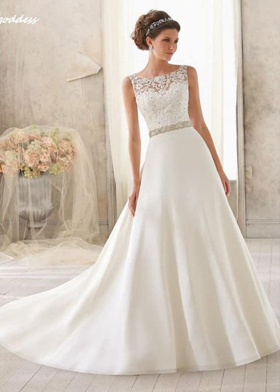 Vestido de novia sencillo elegante