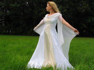 Vestido celta de novia