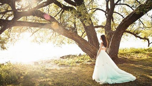 Novia en boda ecológica