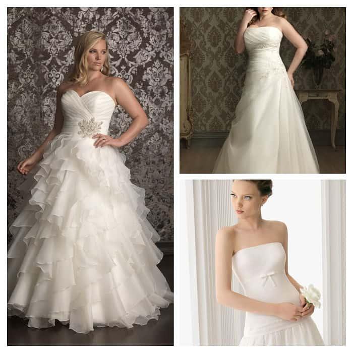 Diferentes tipos de vestidos de novia