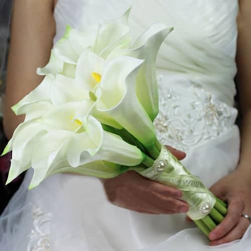 Ramo para novia con calas