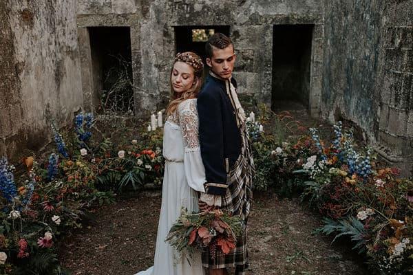 Recién casados por el rito celta