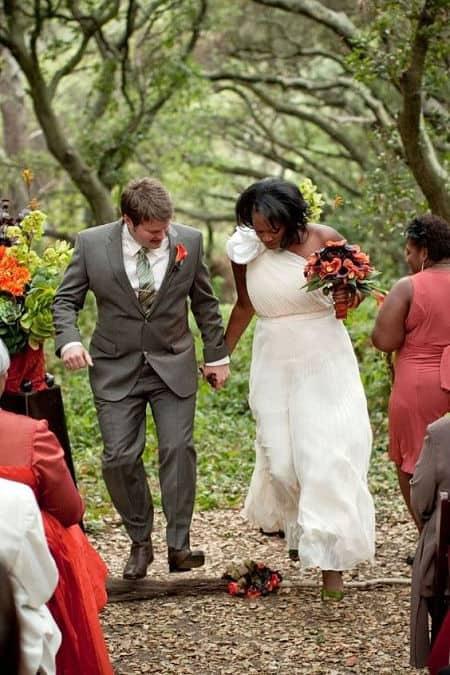 Saltar la escoba en una boda celta