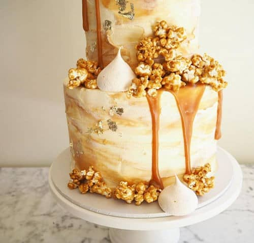 Tarta nupcial drip cake