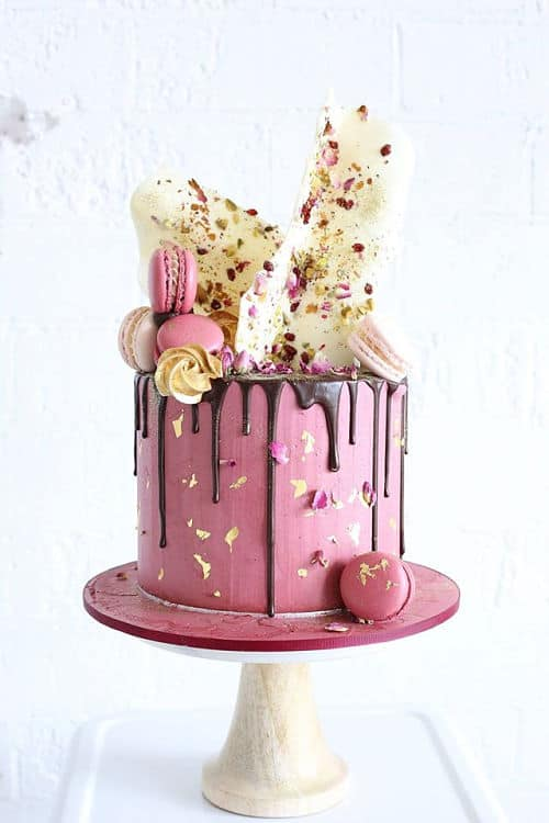 Tarta de boda drip cake