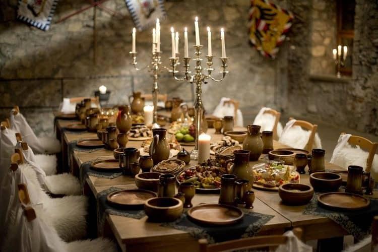 Mesa para boda medieval