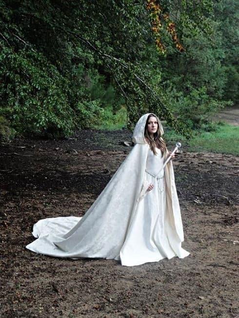 Novia en una boda celta