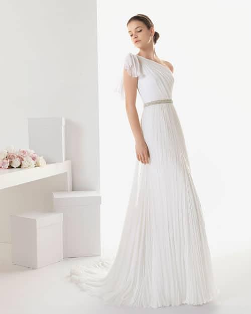 Vestido de novia con tela de bambula
