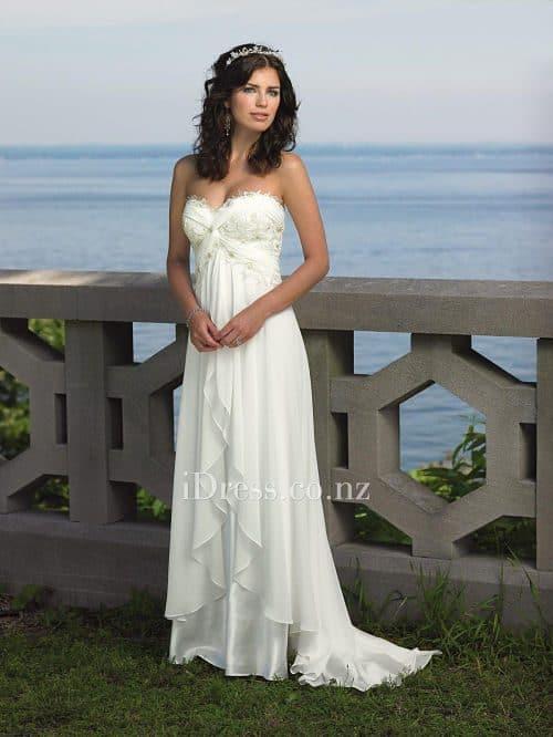 Vestido de novia con tela charmeuse