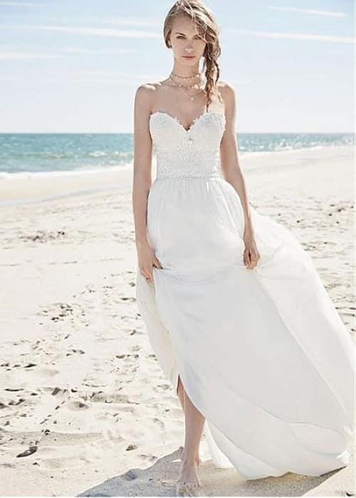 Vestido de novia con tela chiffón