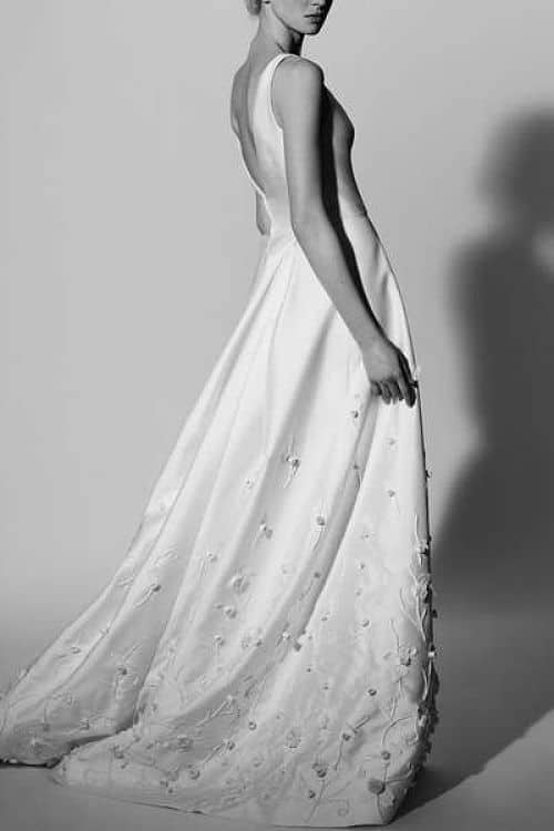 Vestido para novia alta