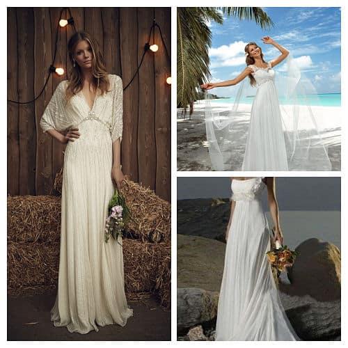 Vestidos de novia de corte imperio