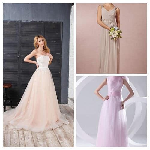 Vestidos de novia de colores pastel