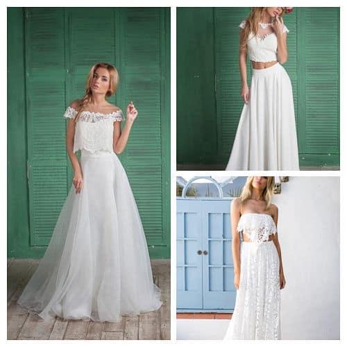 Vestidos novia dos piezas