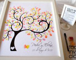 Árbol de huellas para libro de firmas
