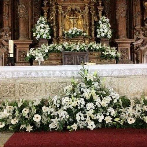 Altar flores para boda