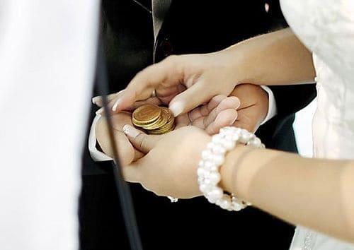 Arras de boda en ceremonia