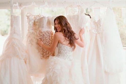 Comprando vestido de novia