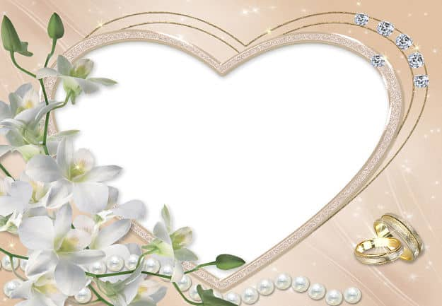 Corazón perlas y brillantes