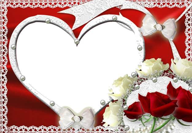 Corazón rosas rojas