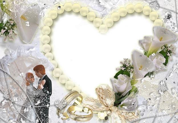 Corazón perlas