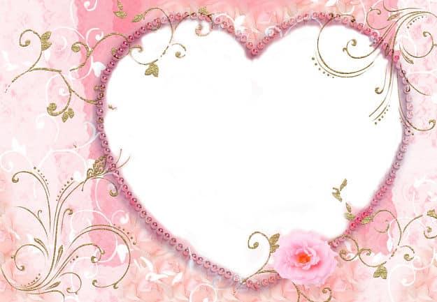 Corazón rosa para foto