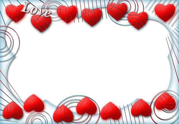 Corazones rojos para marco