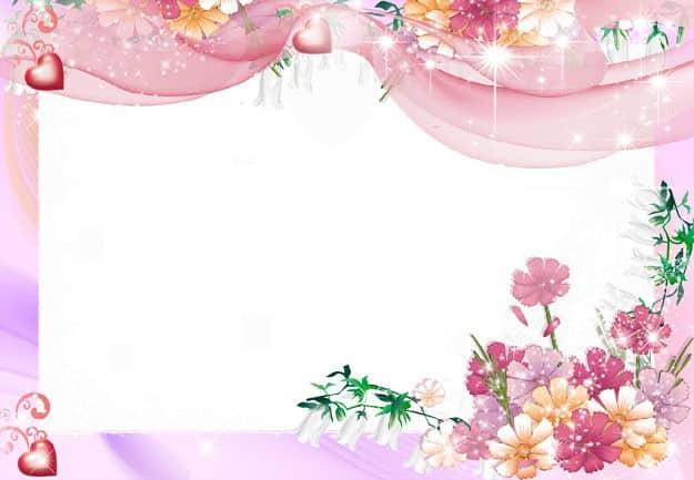 Corazones rosas para fotos