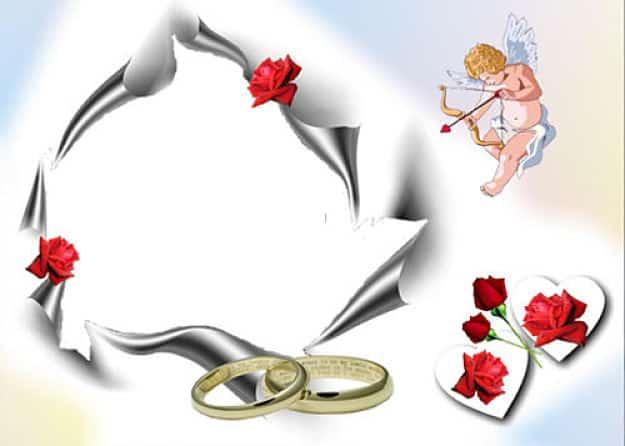 Cupido alianzas de boda