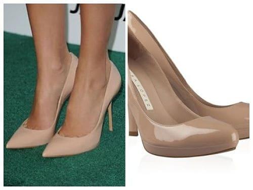 Zapatos estiletos en color piel