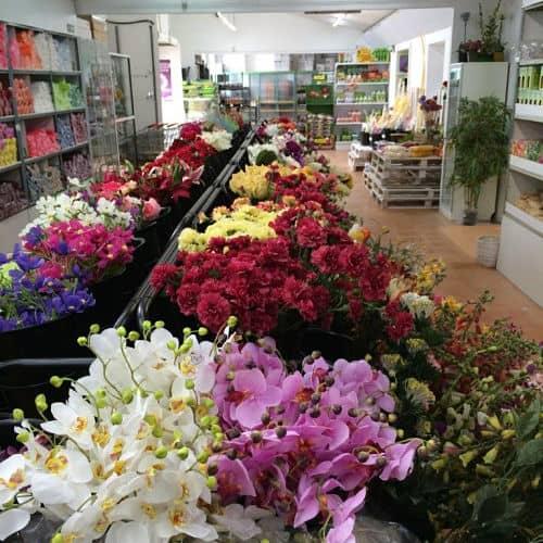Variedad de flores artificiales