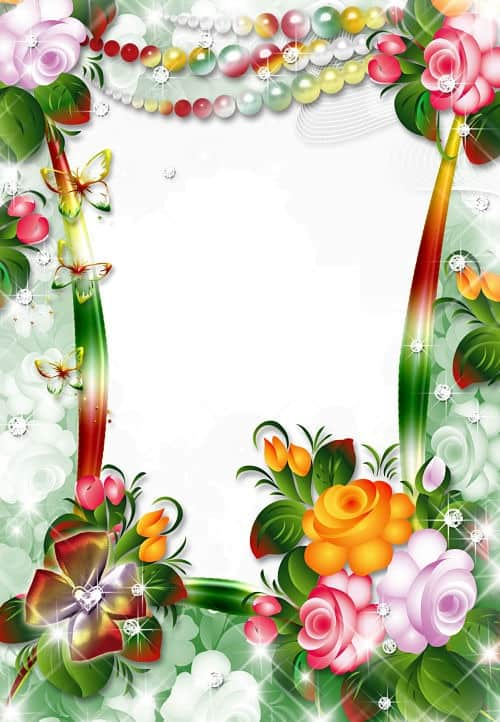 Flores coloridas perlas de colores